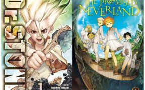 DR.STONE And The-Promised-Neverland-volume-1-1